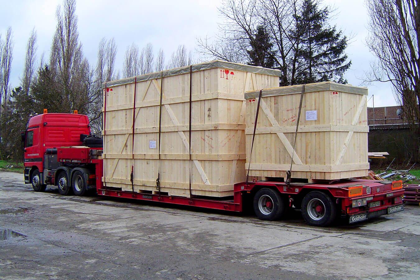 WaluPack Services réalise toute forme d'emballage industriel en bois